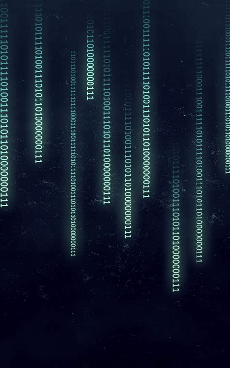 binary numbers typography matrix android wallpaper