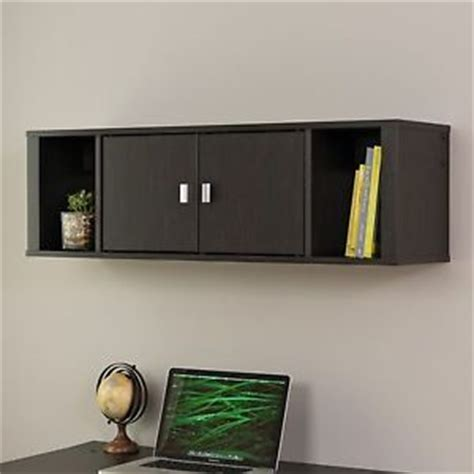 Wall Hanging Hutch Black Wall Mounted Hutch Hanging Cabinet Organizing Space