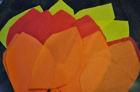 How To Make Tissue Paper Flames - olympics torch craft for