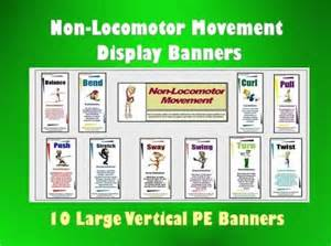 non locomotor movement display banners 10 vertical