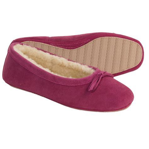shearling slippers for acorn ballet sheepskin slippers for 1935r save 68