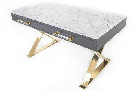 Desk With Marble Top by Modern Desk With Marble Top At 1stdibs