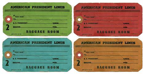 printable vintage luggage tags template 5 best images of vintage luggage tags free printable