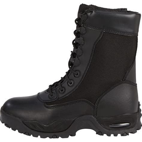 most comfortable tactical boots ridge air tac 8in side zip steel toe tactical boot