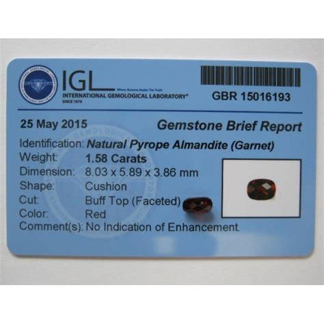 Batu Permata Fluorite 275 batu permata garnet cushion buff top 1 58 carat