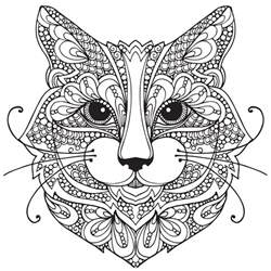 Adult Coloring Pages Cat 1 Coloring Pages Pinterest Cat Coloring Pages For Adults