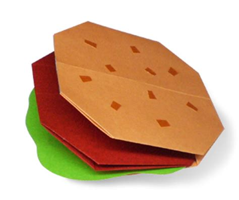 How To Make A Paper Hamburger - origami hamburger