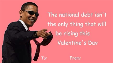 Funny Valentines Day Cards Meme - president obama valentines day card valentine day cards