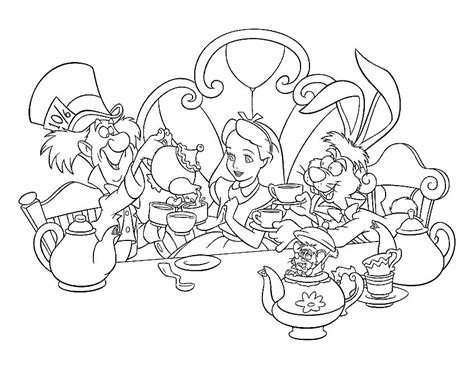 disney stationary coloring book alice wonderland kids
