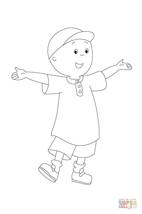 printable coloring pages caillou caillou is waiting to be painted coloring page free