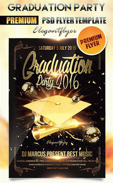 Which Party To Organize For Graduation Professional Themed Templates By Elegantflyer Graduation Flyer Template Free