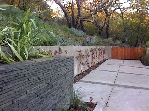 Front Garden Wall Ideas Retaining Wall Ideas Landscape Craftsman With Front Steps Front Yard Front Yard