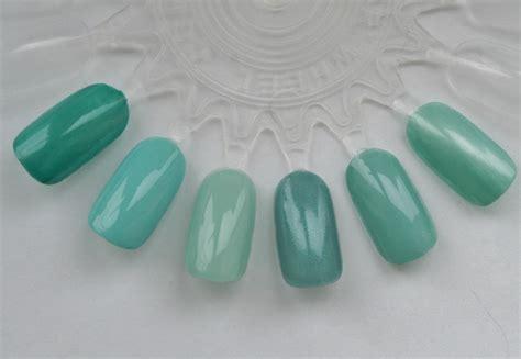 Groen Blauw Kleur by Blauw Groene Kleuren Vergelijking Blackbirdnails