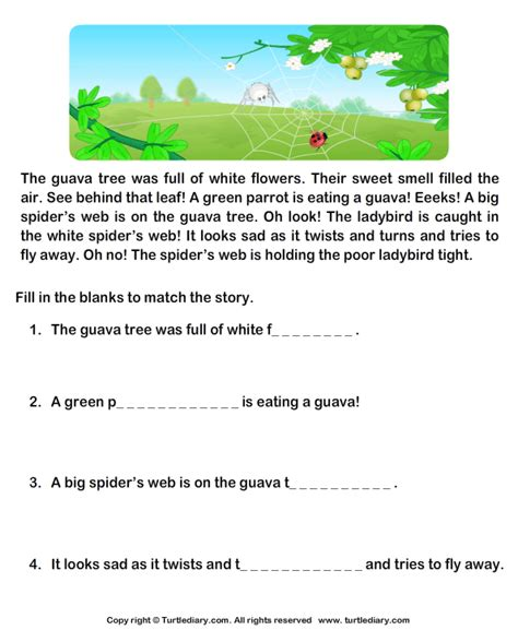 reading comprehension stories worksheet 31 turtle diary