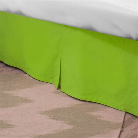 lime green bed skirt