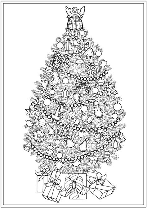christmas tree coloring page for adults 441 best christmas coloring images on pinterest coloring