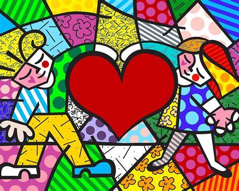 romero britto sweet hug 2015 romero britto artmarket contemporary