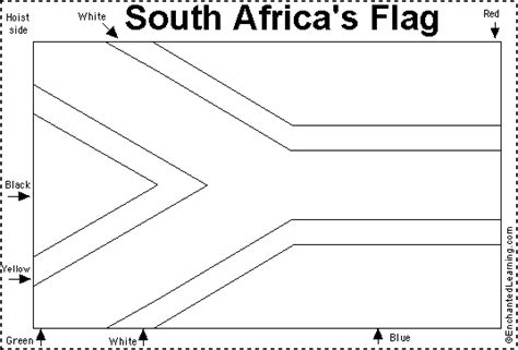 Images And Places Pictures And Info South African Flag South Flag Coloring Page