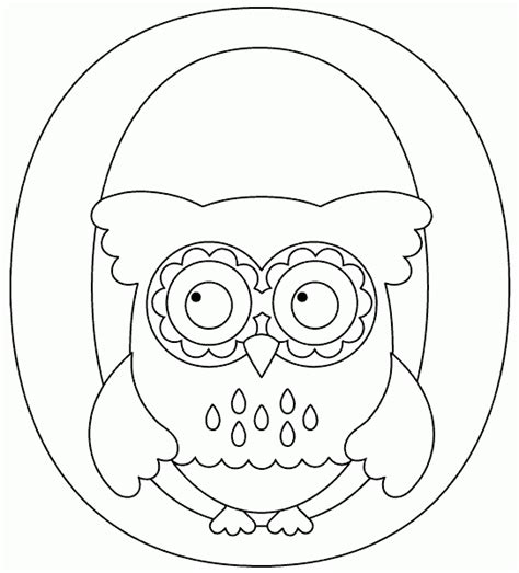 O The Owl Coloring Page by O Is For Owl Coloring Page Coloring