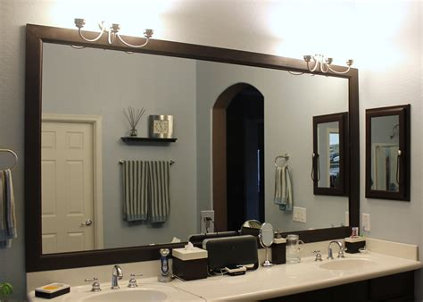 Large Framed Bathroom Mirror Large Black Framed Mirror For Bathroom And Vanities Decofurnish