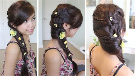 fancy a change of hair stule fancy fishtail braid hairstyle for medium long hair