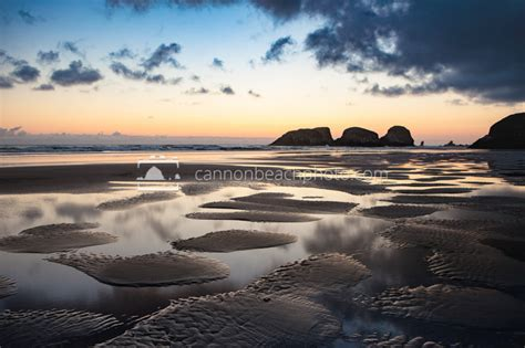 twilight tidepools chapman beach cannon beach photo