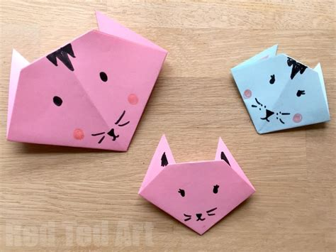 Toddler Paper Crafts - easy origami cats paper crafts for ted s
