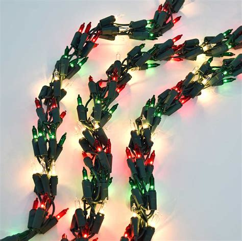 red green mini christmas lights 600 clear light cluster garland string light set green wire