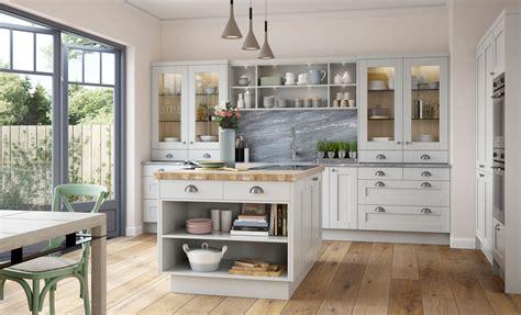 Shaker Kitchen Doors Kensington Light Grey Uform Light Grey Shaker Kitchen