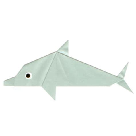 Dolphin Origami - how to make a traditional origami dolphin page 1