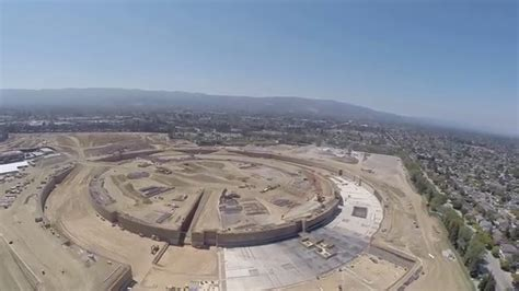 apple headquarters tour drone gives aerial tour of apple s spaceship cus 2