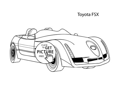 super car toyota fsx coloring page cool car printable free