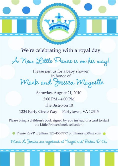 A New Prince Baby Shower by Prince Baby Shower Invitation Digital By Inkberrycards