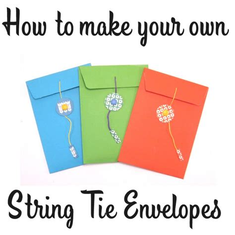 how to make your own envelope craft tutorial how to make a string tie envelope