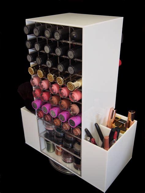 makeup holder white rotating 80 lipstick makeup cosmetic organizer