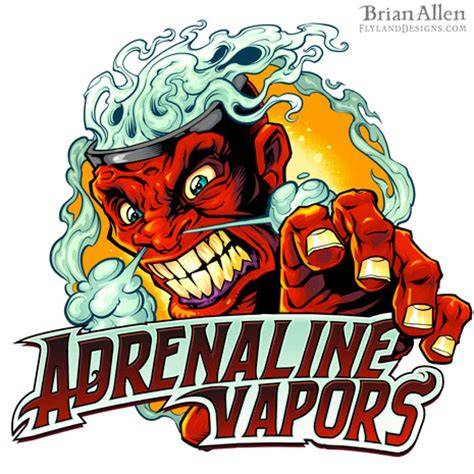 gambar desain zombie ejuice vapor angry face logo design flyland designs