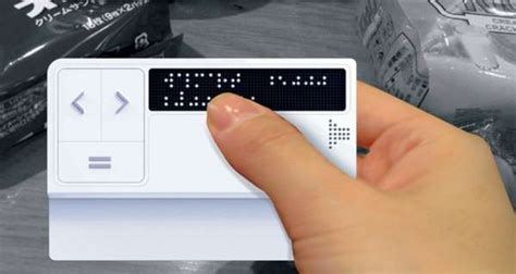 blind aids blind friendly shopping aids braille credit card