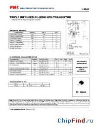 datasheet transistor h1061 h1061 pmc diffused silicon npn transistor