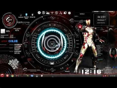 jarvis  windows   ironman theme