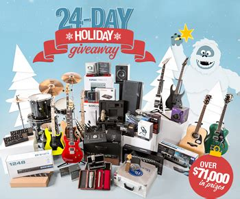sweetwater 24 day holiday giveaway win fantastic p giveawayus com - Sweetwater Giveaway Winners