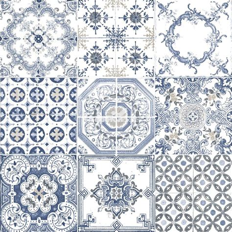 tile pattern wallpaper moroccan tiles blue