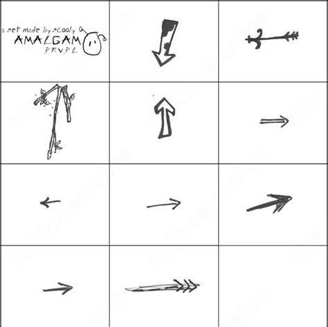 free doodle arrow font arrows doodle brush photoshop brushes in photoshop brushes
