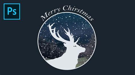 photoshop tutorial merry christmas logo design youtube
