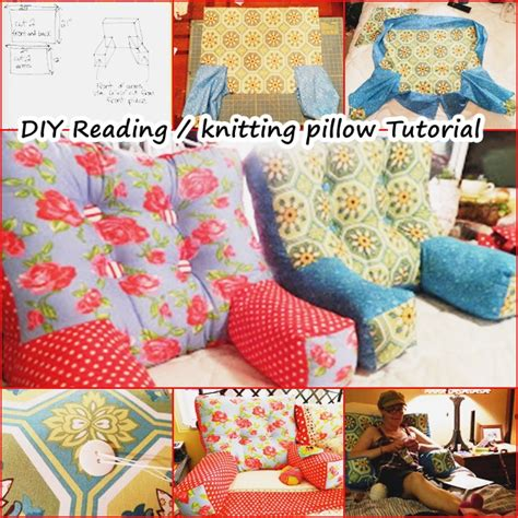 diy bed rest pillow wonderful diy reading knitting arm pillow
