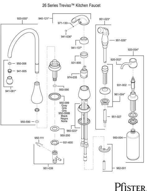 price pfister kitchen faucet repair manual 26 series treviso
