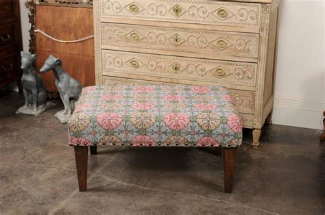 Upholstered Ottoman Made Of Midcentury Colorful Turkish Colorful Ottomans For Sale