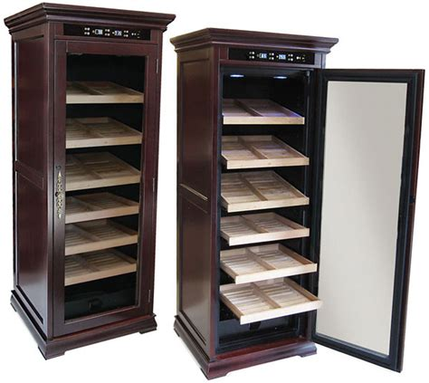 redford electronic cabinet cigar humidor new 1st class electronic cigar humidors remington and