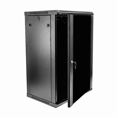 Wall Mount Cabinet With Lock by 18u It Wall Mount Network Server Data Cabinet Rack Glass