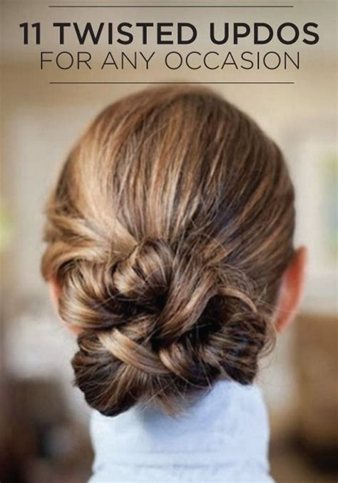 These Trends Twisted My by We You To Try These Knotted And Twisted Updos For