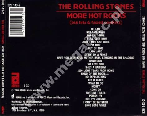 Cd The Rolling Stones More Rocks Big Hits Fazed Cookies more rocks big hits fazed cookies 2cd rolling